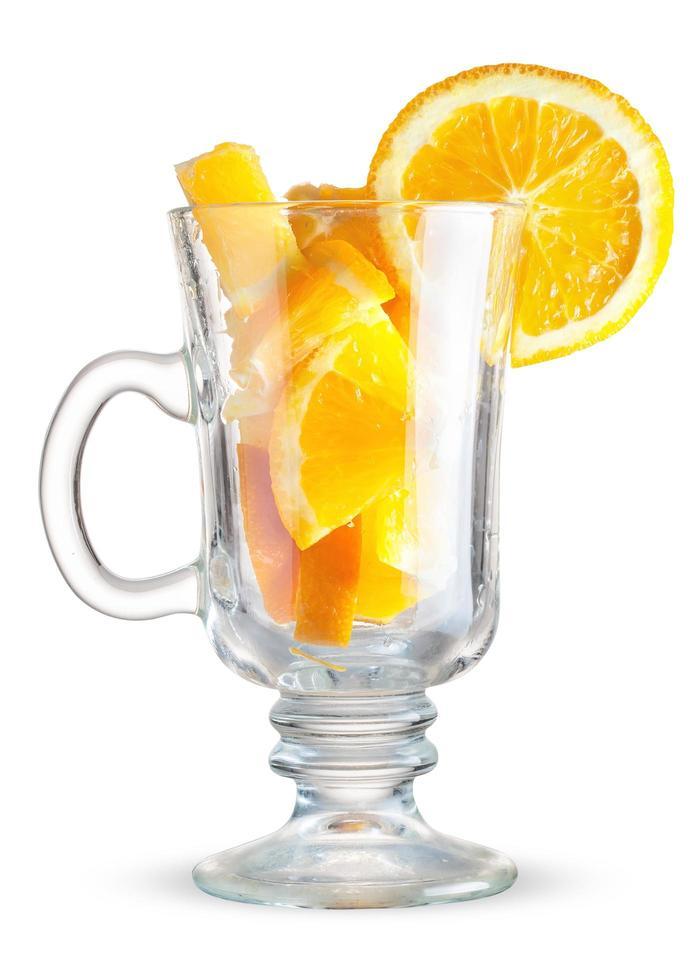 bicchiere con arancia foto