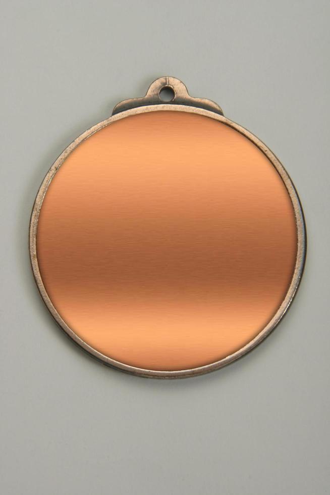 medaglione d'oro, argento e bronzo foto