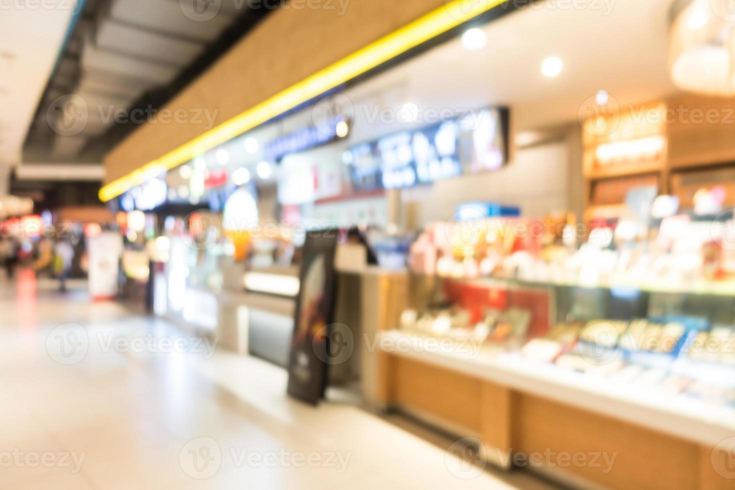 sfocatura astratta bellissimo centro commerciale di lusso e negozio di vendita al dettaglio foto