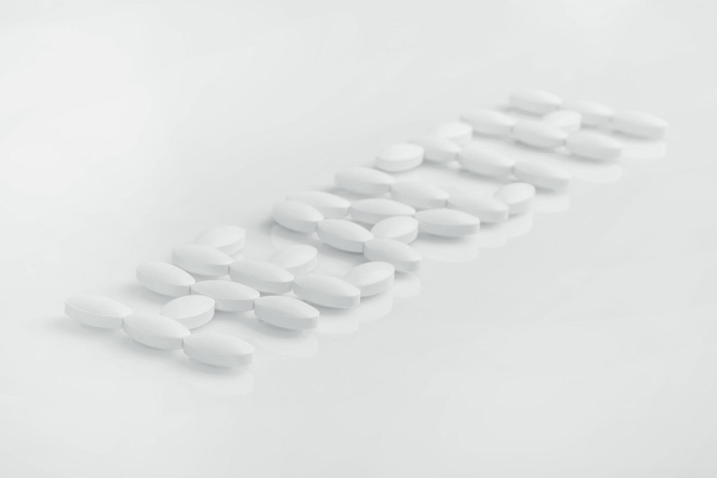 parola di salute composta da pillole bianche foto