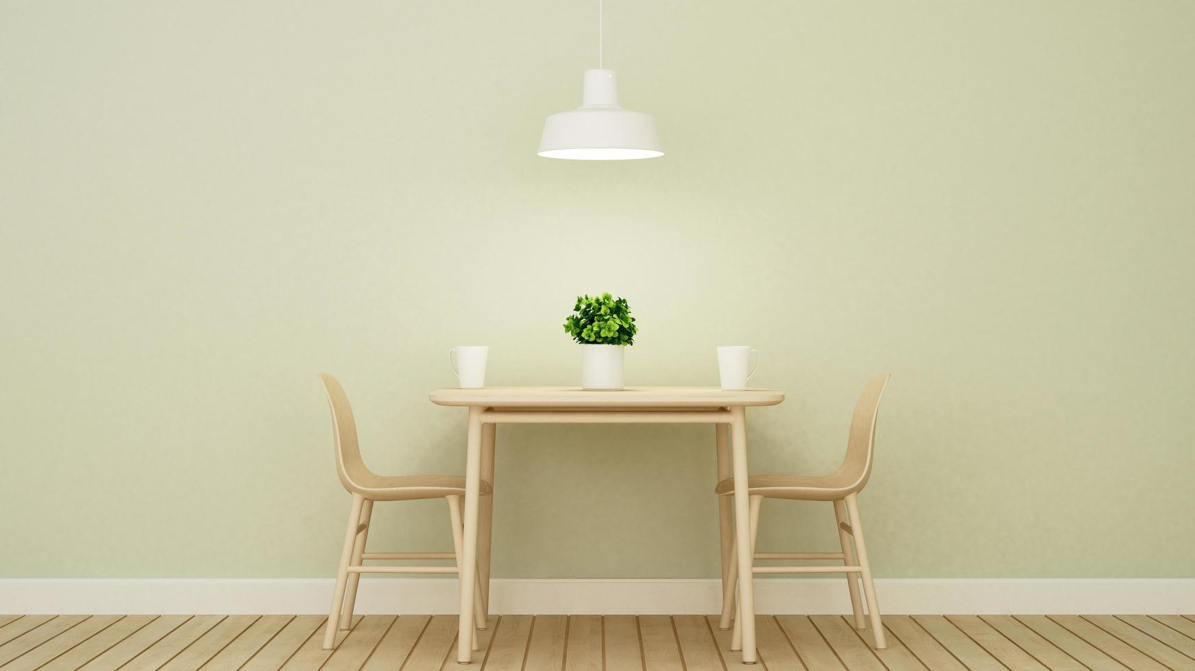 ristorante o caffetteria sul design della parete verde foto