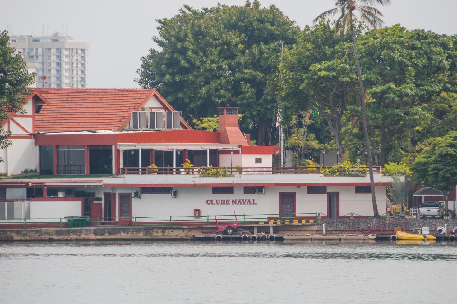 club navale a lagoa rodrigo de freitas a rio de janeiro, brasile foto