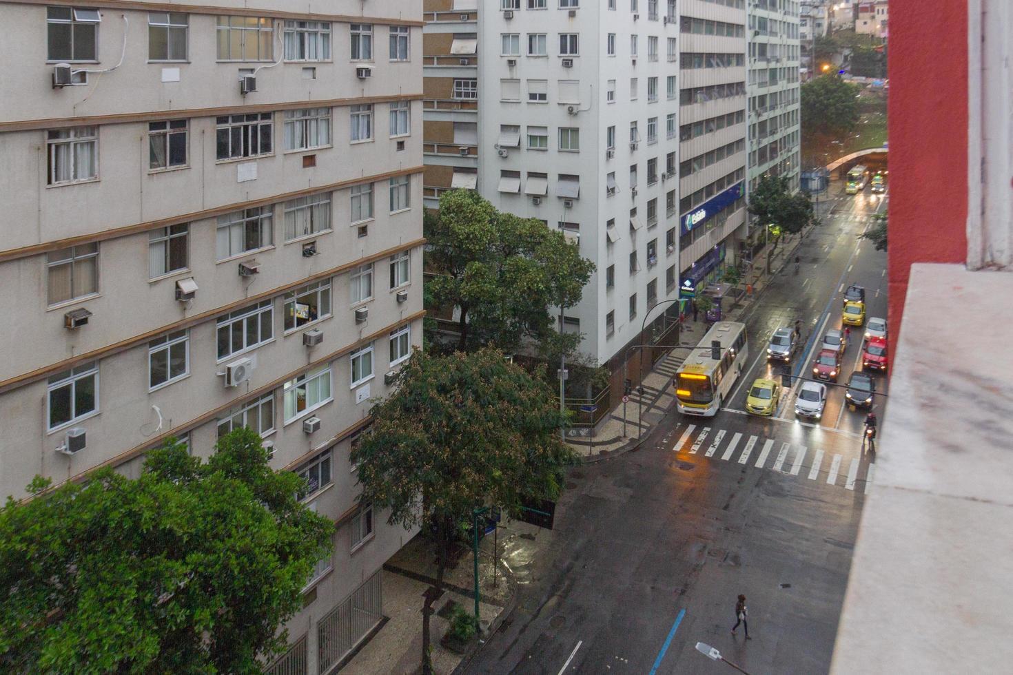 rio de janeiro, brasile, 2015 - vista del quartiere di copacabana foto