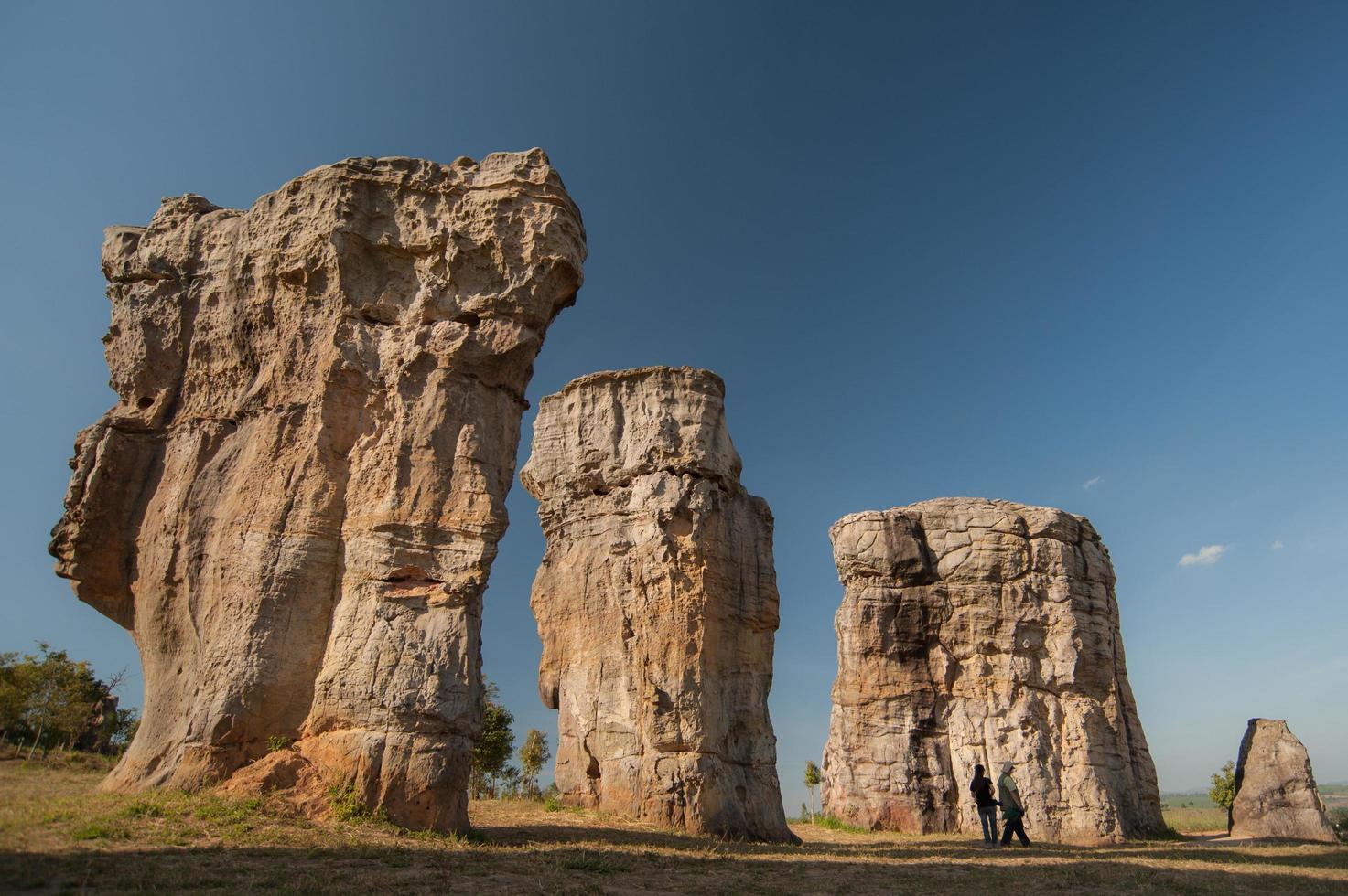 Stonehenge della Thailandia mo hin khao nella provincia di Chaiyaphum Thailandia foto
