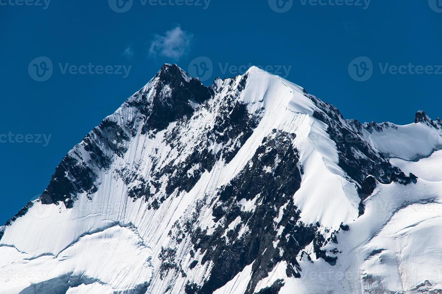 cima delle alpi retiche pizzo bernina con la via delle crete biancograt foto