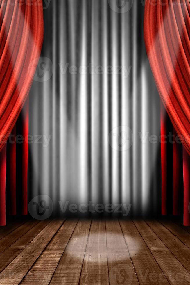 tende da palco verticali con luce spot foto