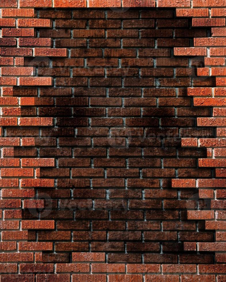 sfondo muro di mattoni con elementi grunge foto