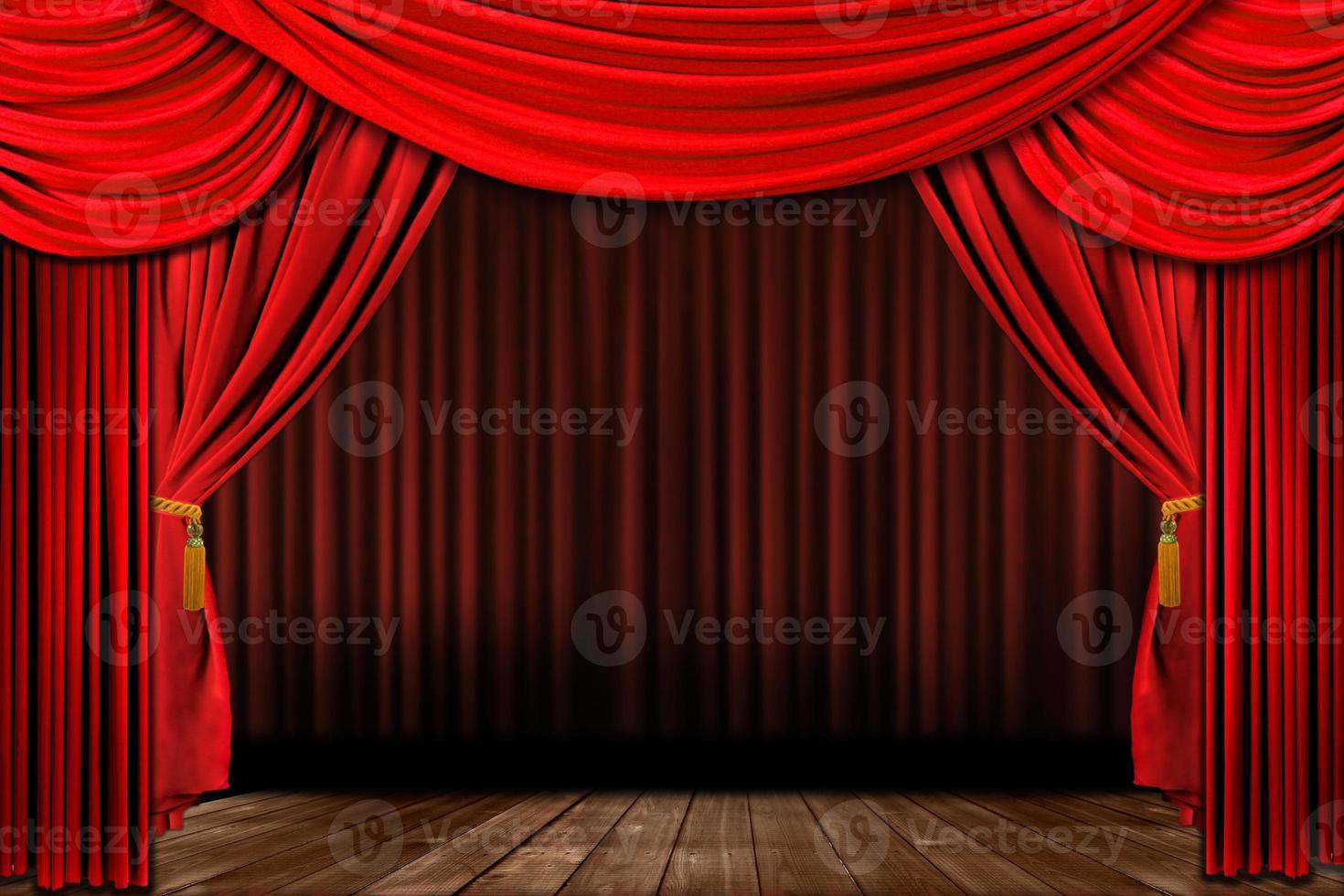 palcoscenico teatrale elegante vecchio stile rosso drammatico foto