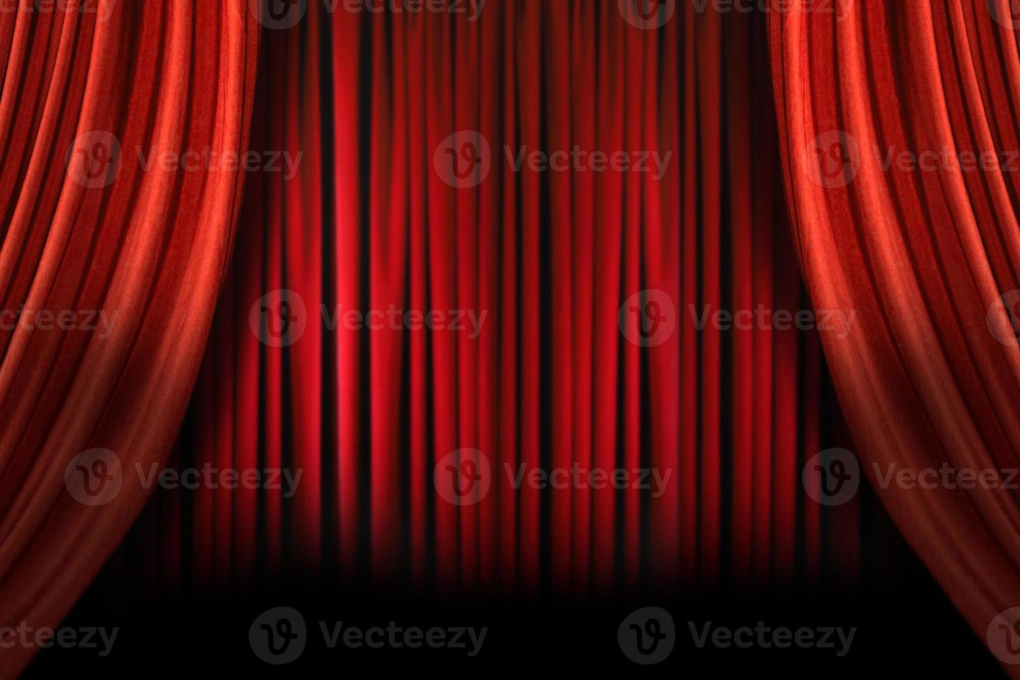palco elegante vecchio stile con tende di velluto swag foto