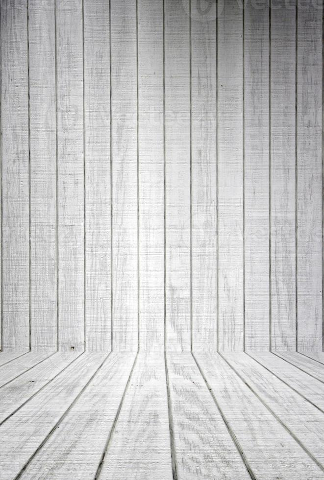 listoni di legno bianco con pavimento foto