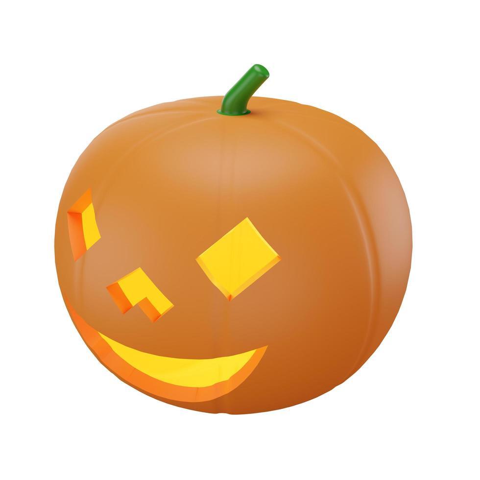 zucca con il concetto di halloween foto