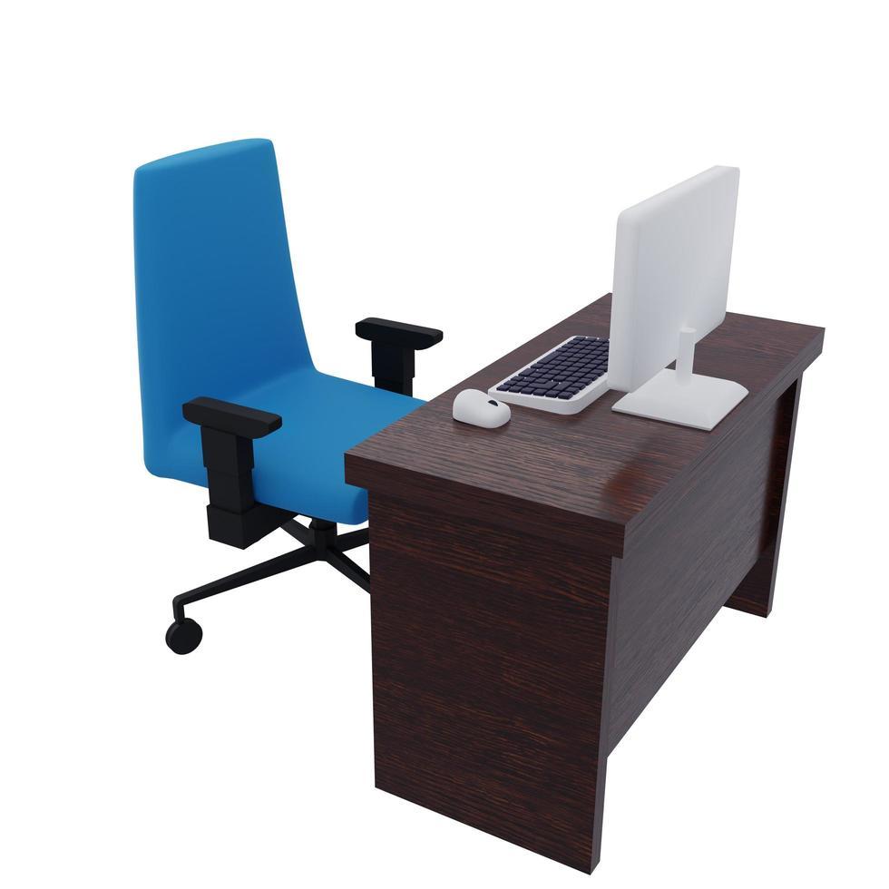 illustrazione della scrivania foto