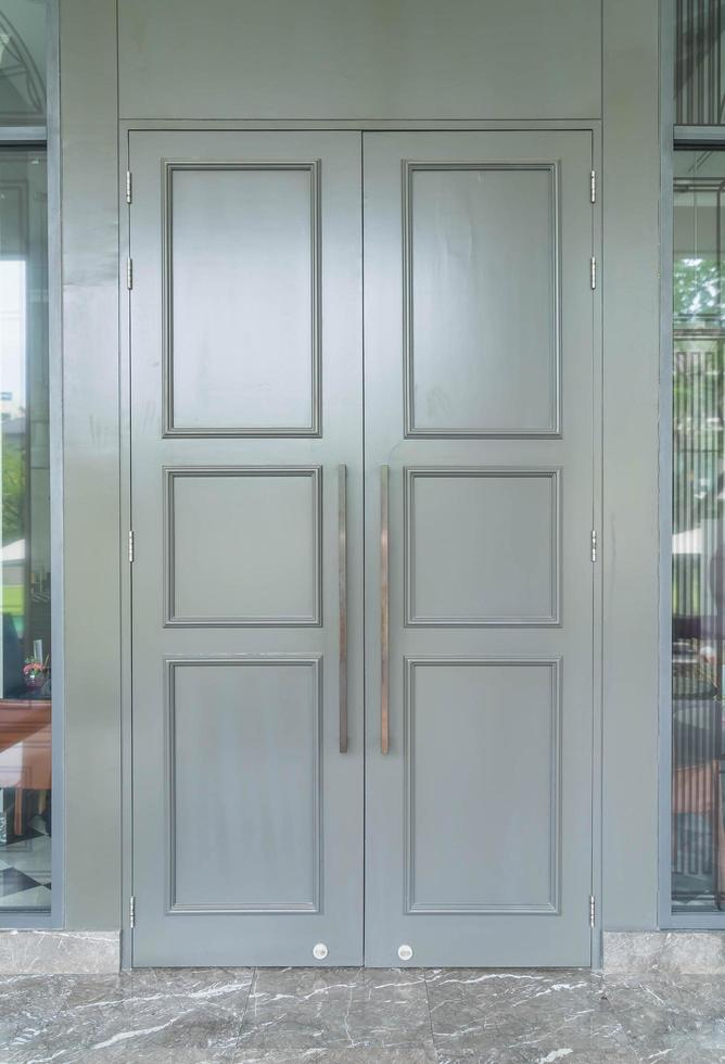 decorazione porta in legno - stile vintage foto