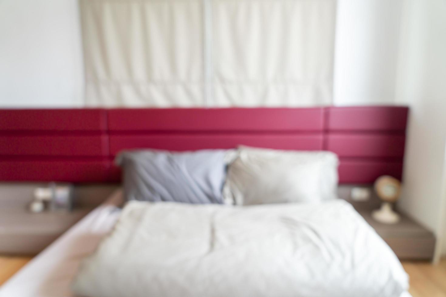 interno della camera da letto sfocatura astratta per lo sfondo foto
