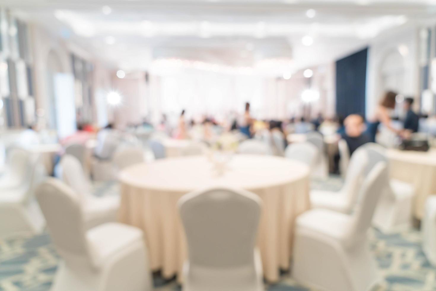 sfocatura astratta in un ristorante di lusso per lo sfondo foto