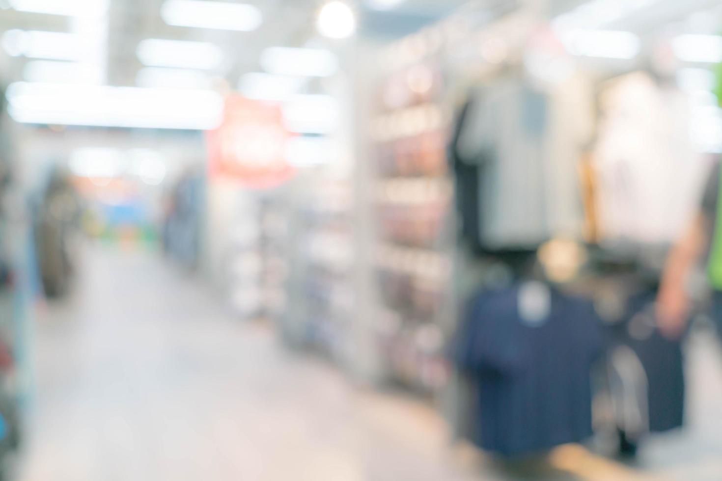 centro commerciale sfocato astratto e interno del negozio al dettaglio foto