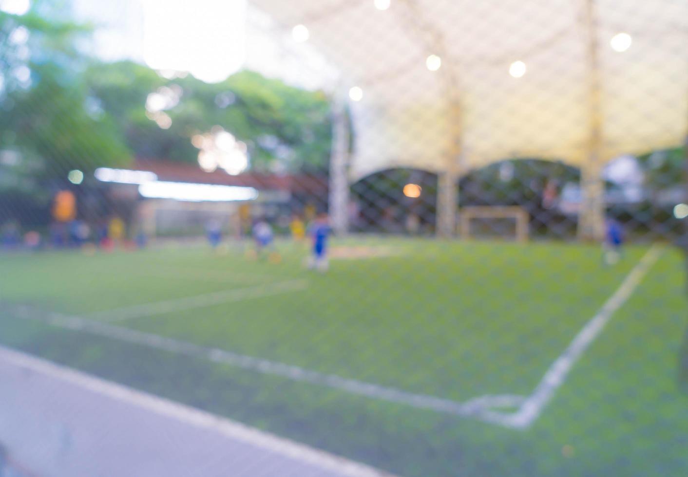 campo di calcio sfocato astratto foto