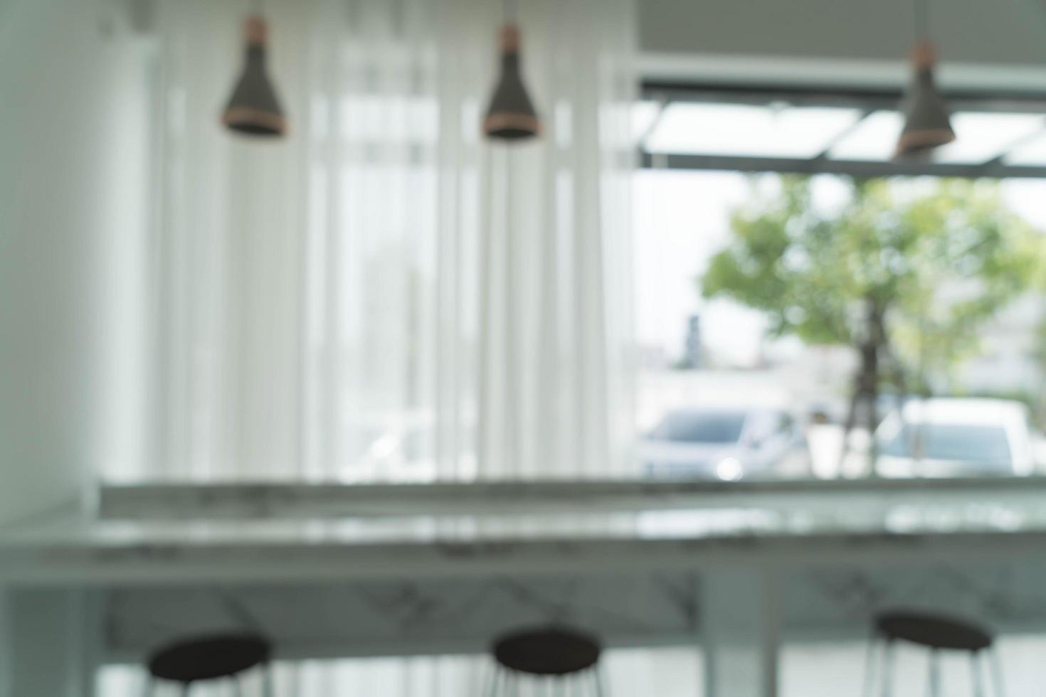 sfocatura astratta nel ristorante per lo sfondo foto