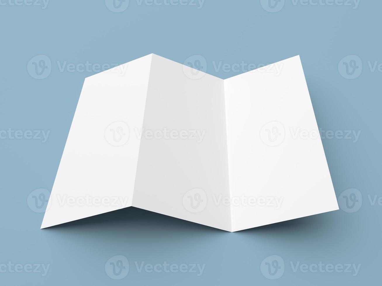 depliant in bianco piega a Z brochure del libro bianco foto