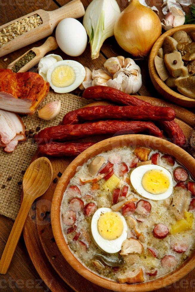 zurek polacco tradizionale zuppa di pasqua foto