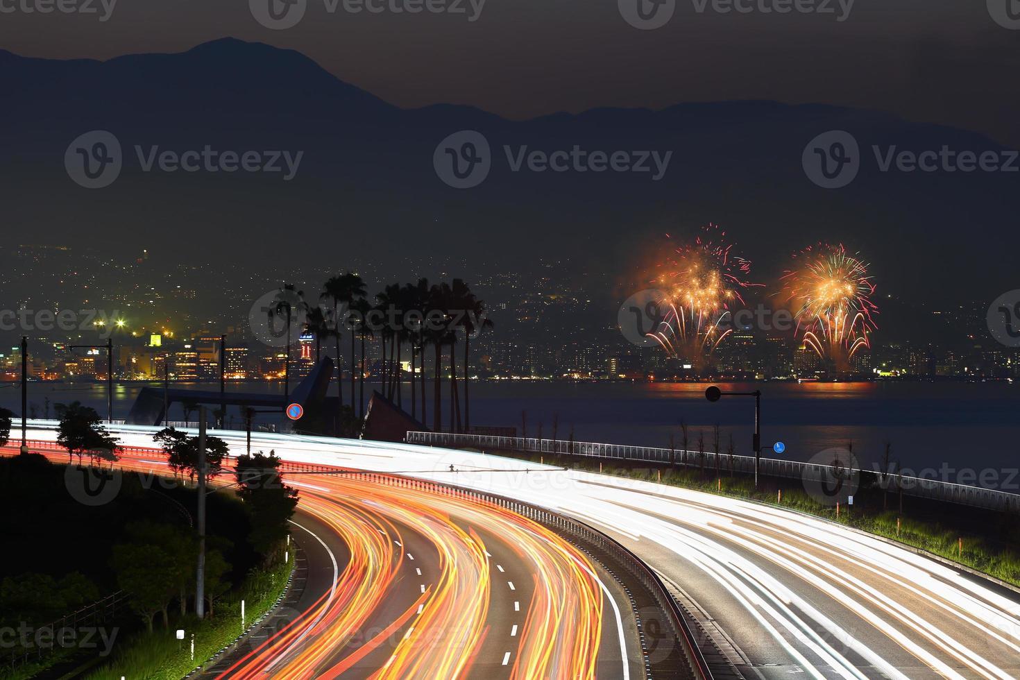 beppu di fuochi d'artificio foto