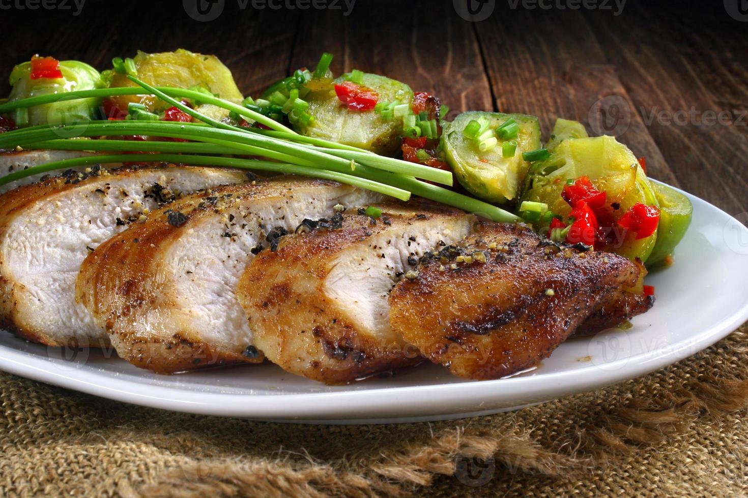 petto di pollo fritto foto
