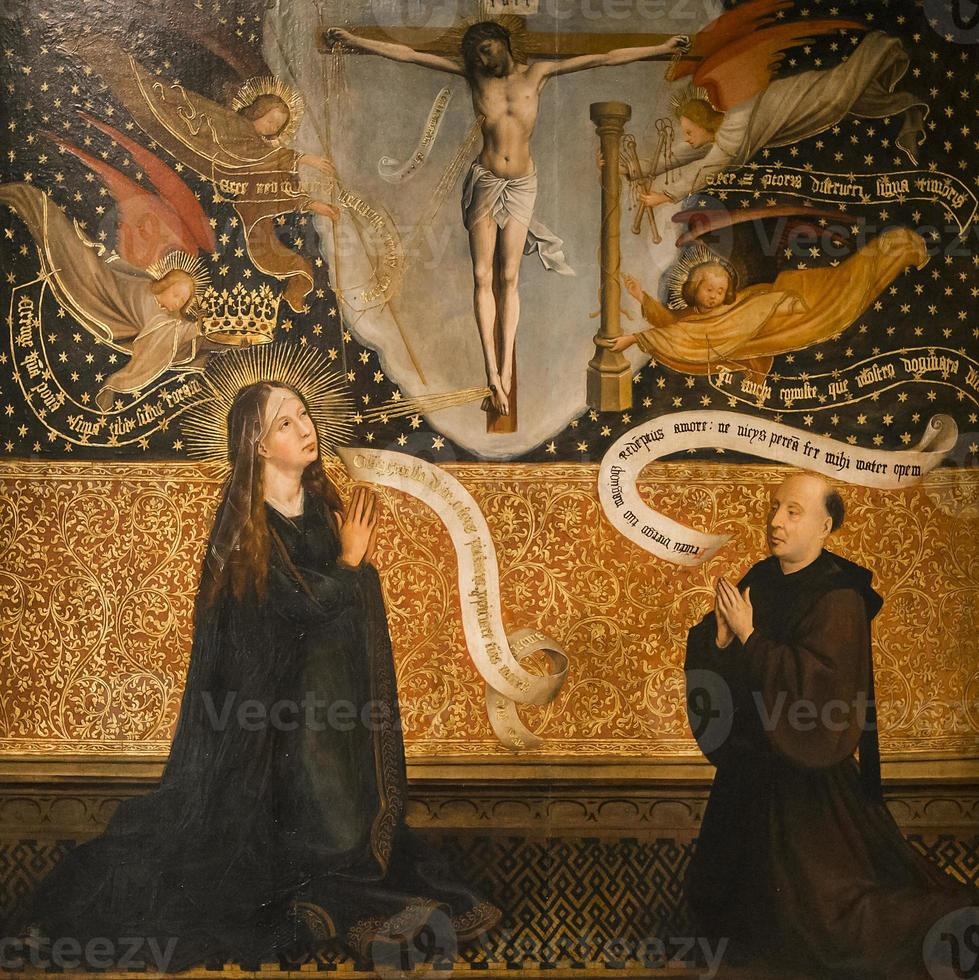 affresco della cattedrale di san salvatore, bruges, belgio foto