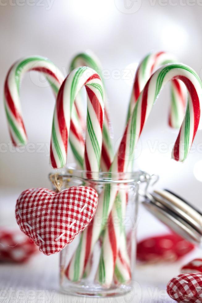 decorazioni natalizie con bastoncini di zucchero foto