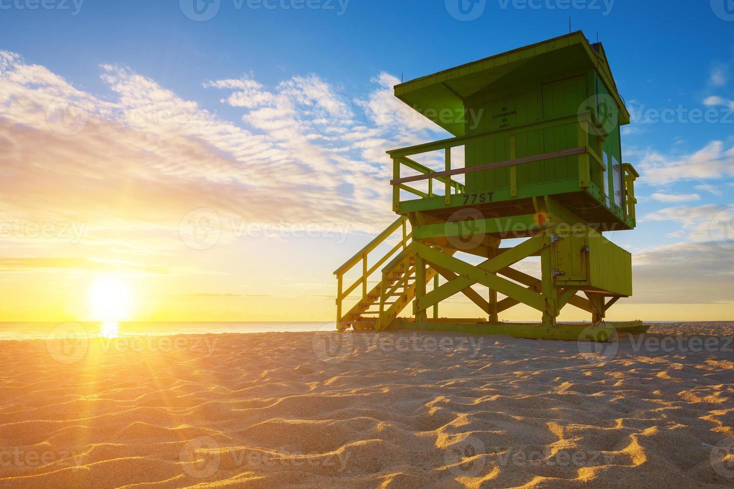 miami south beach sunrise foto