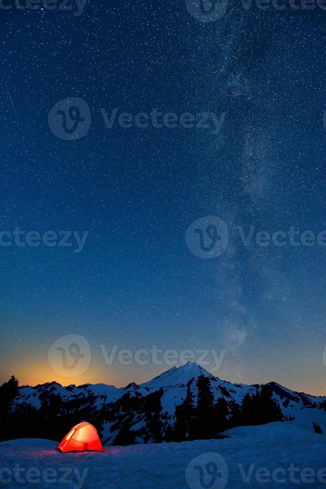 Via Lattea e Mount Baker foto