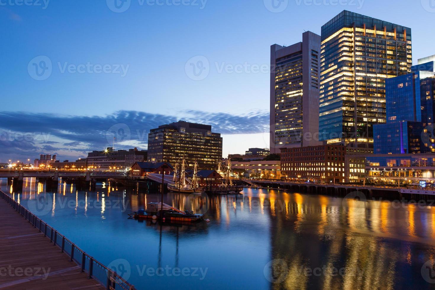 strade di Boston di notte foto