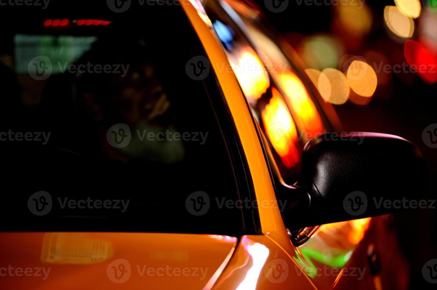 taxi di New York City con bokeh foto