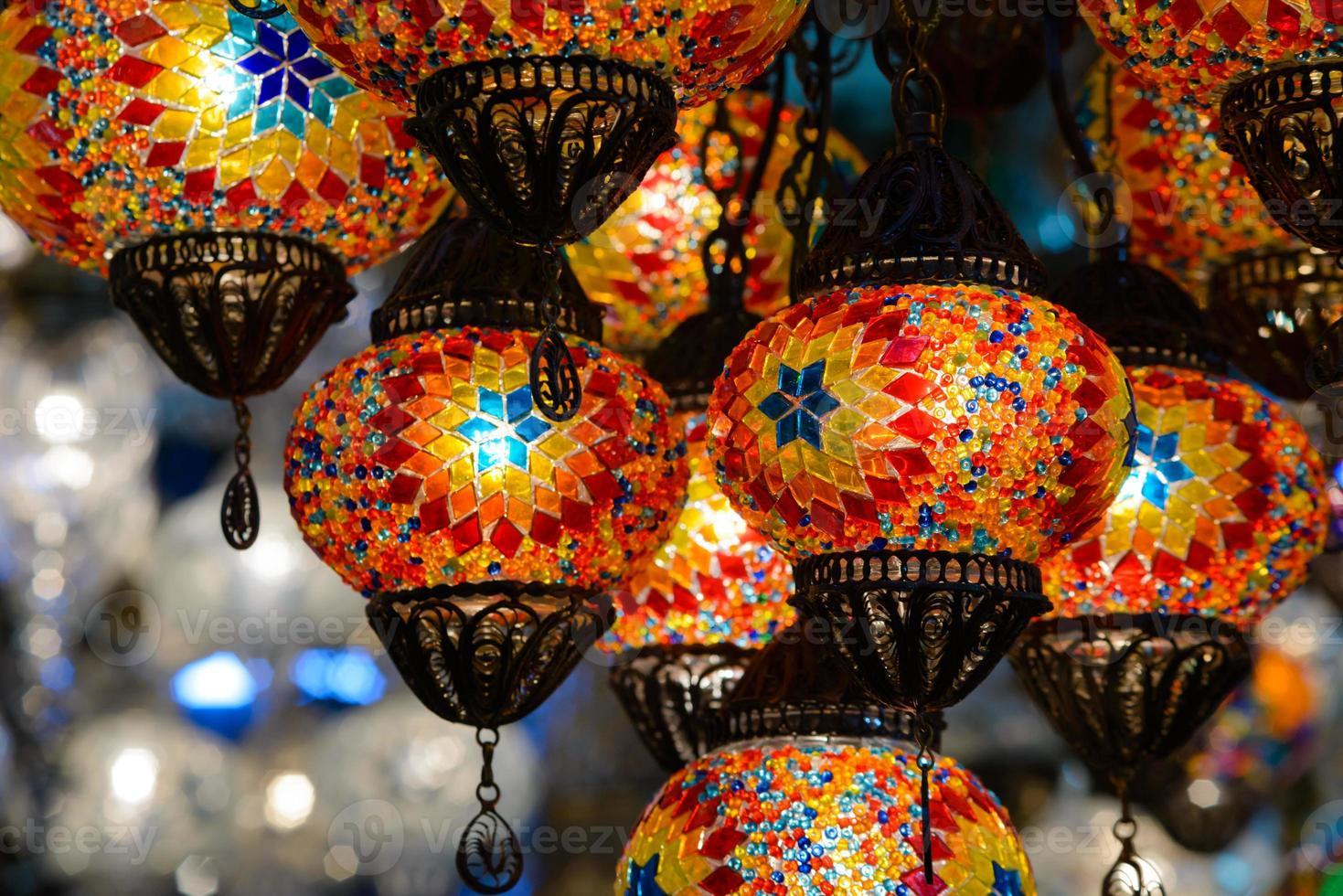 lanterne tradizionali a mosaico turco foto