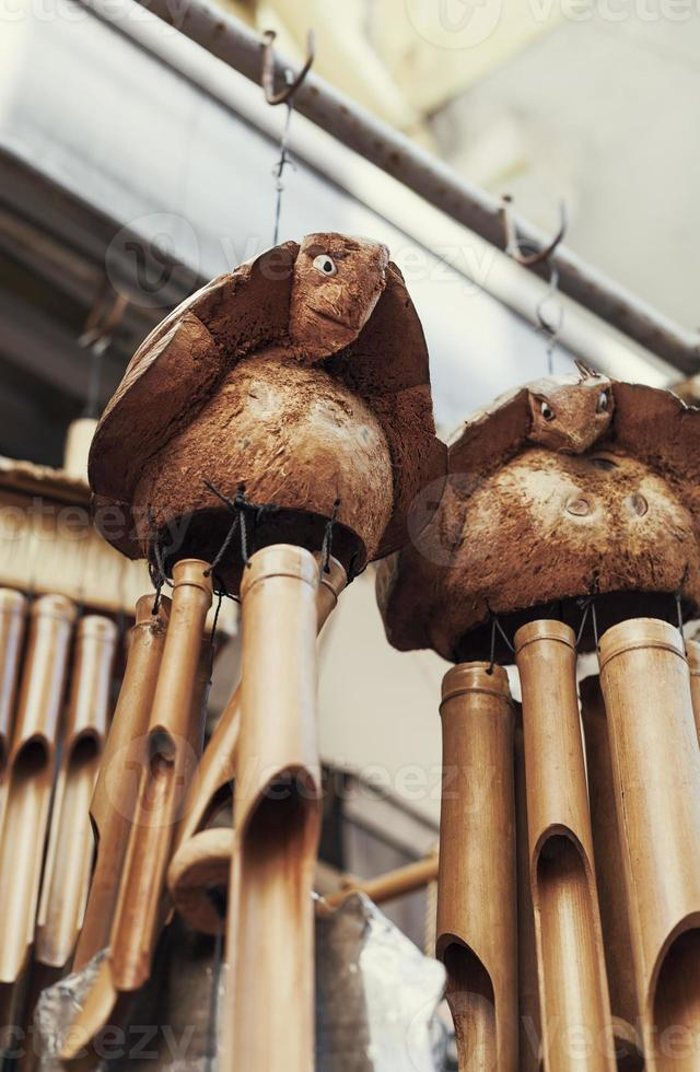 campanelli eolici di bambù foto