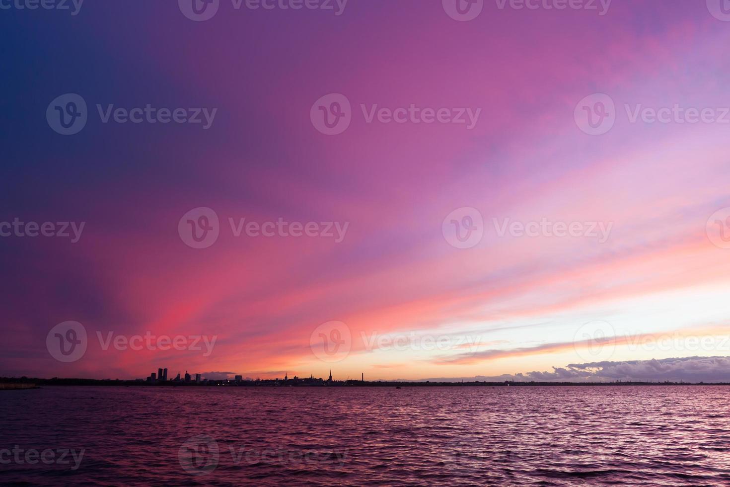 tramonto del fuoco foto