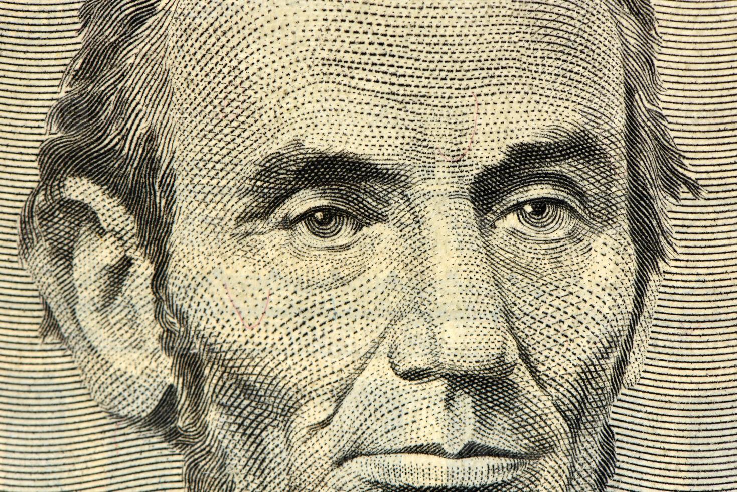 banconota da cinque dollari foto