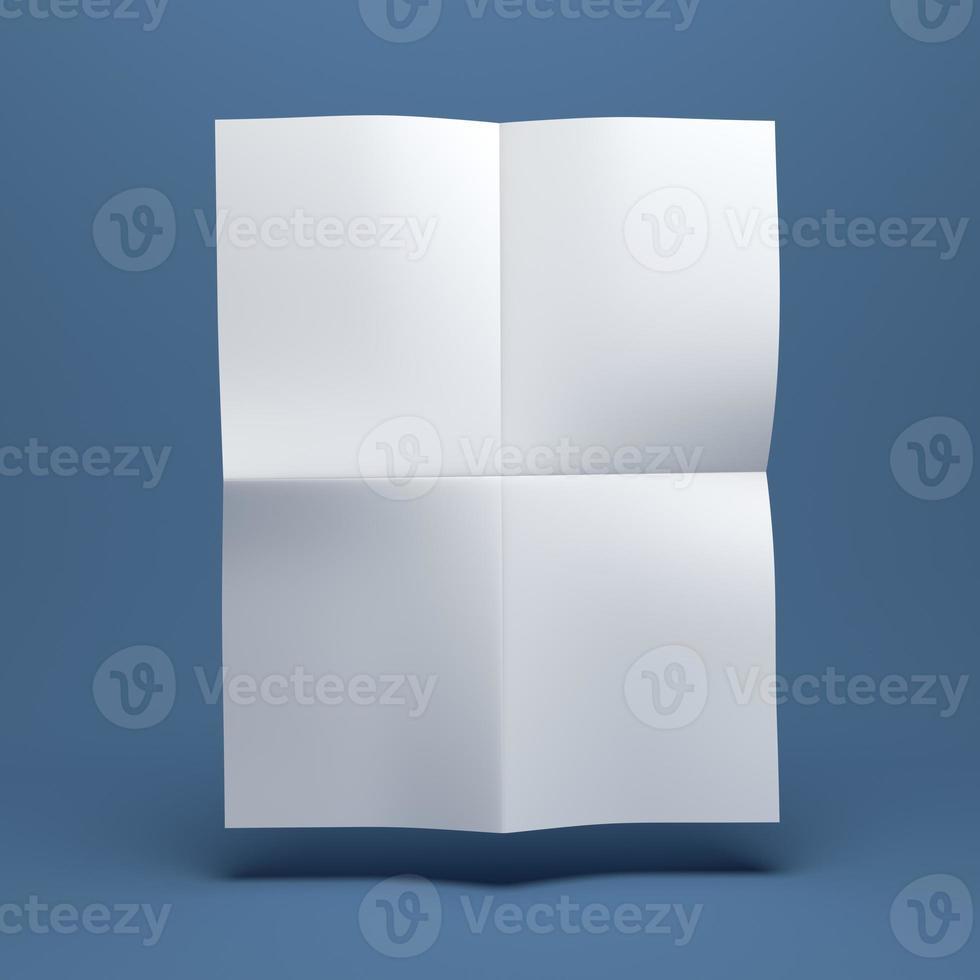 brochure di carta bianca bianca foto