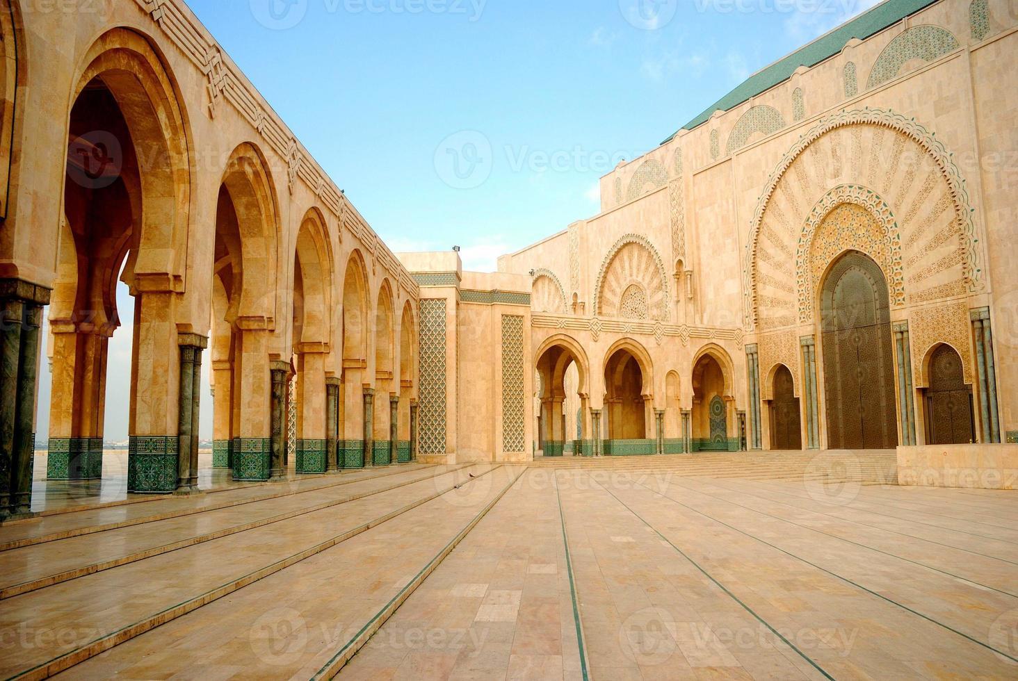 ii. moschea hassan, casablanca, marocco foto