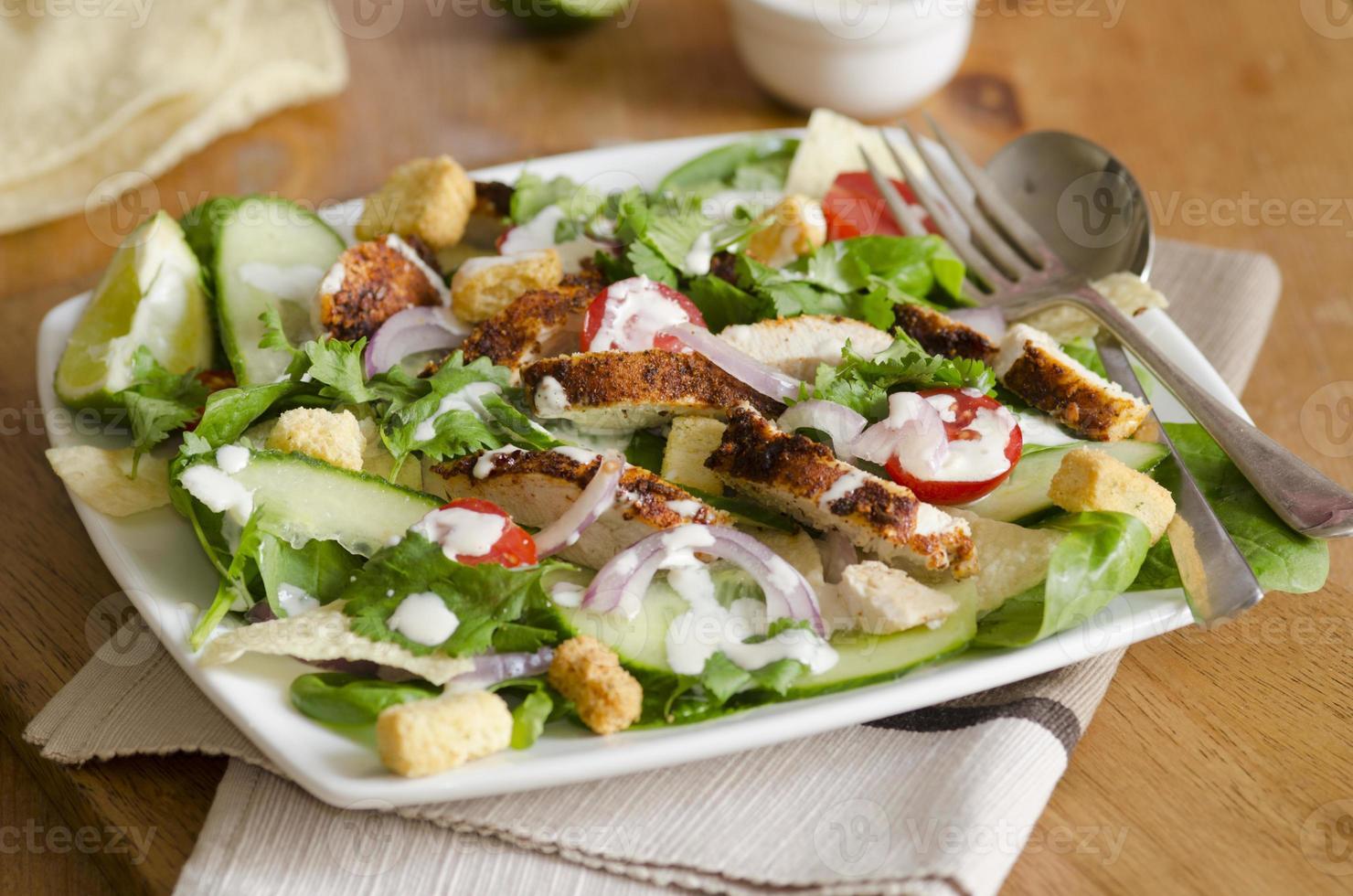 insalata di pollo indiana foto