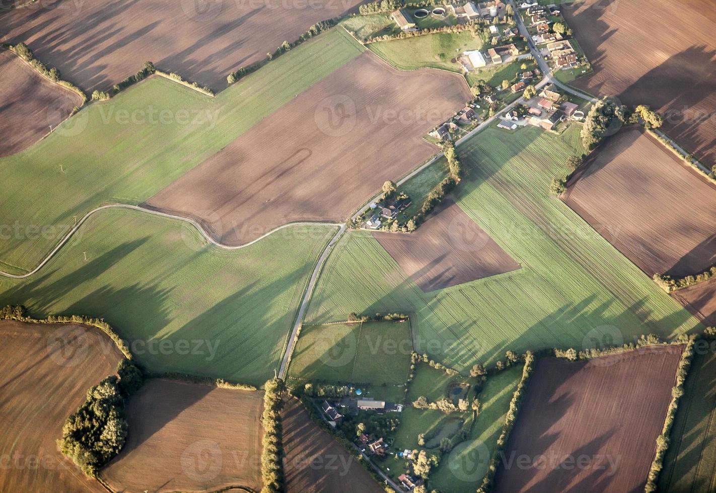 antenna del paesaggio rurale di Amburgo foto