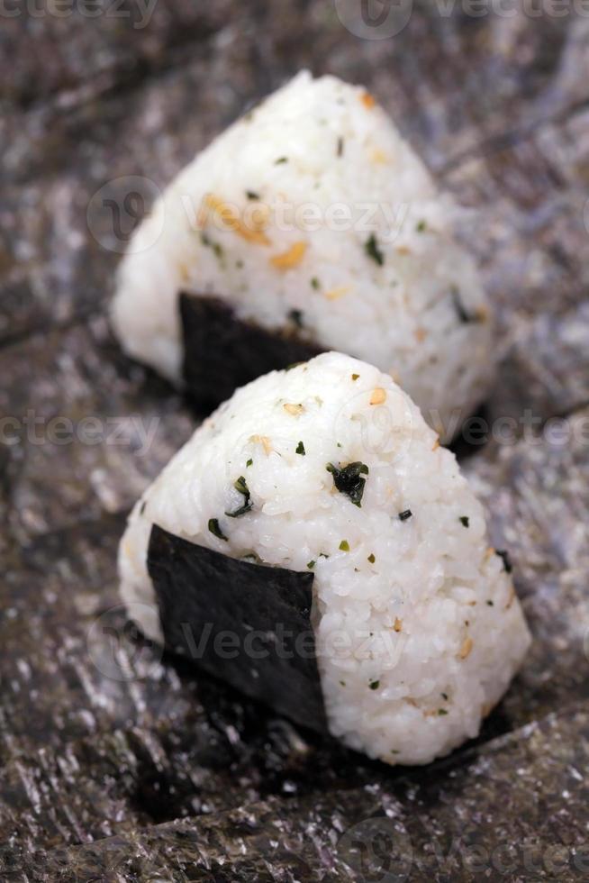 palla di riso giapponese foto