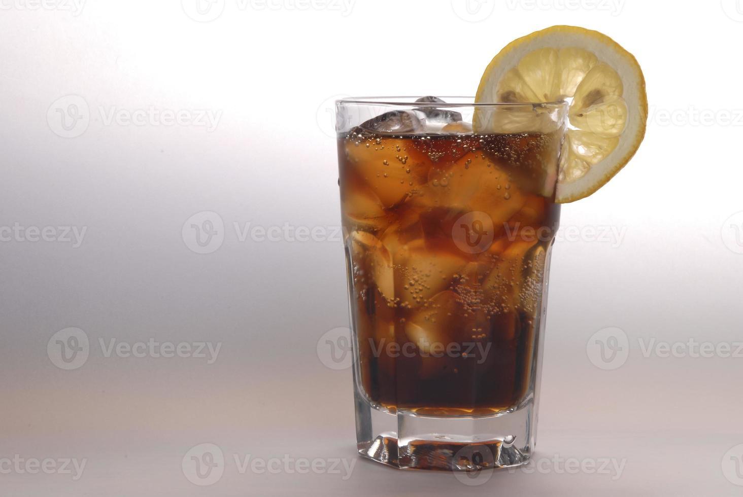 bicchiere di coca cola foto