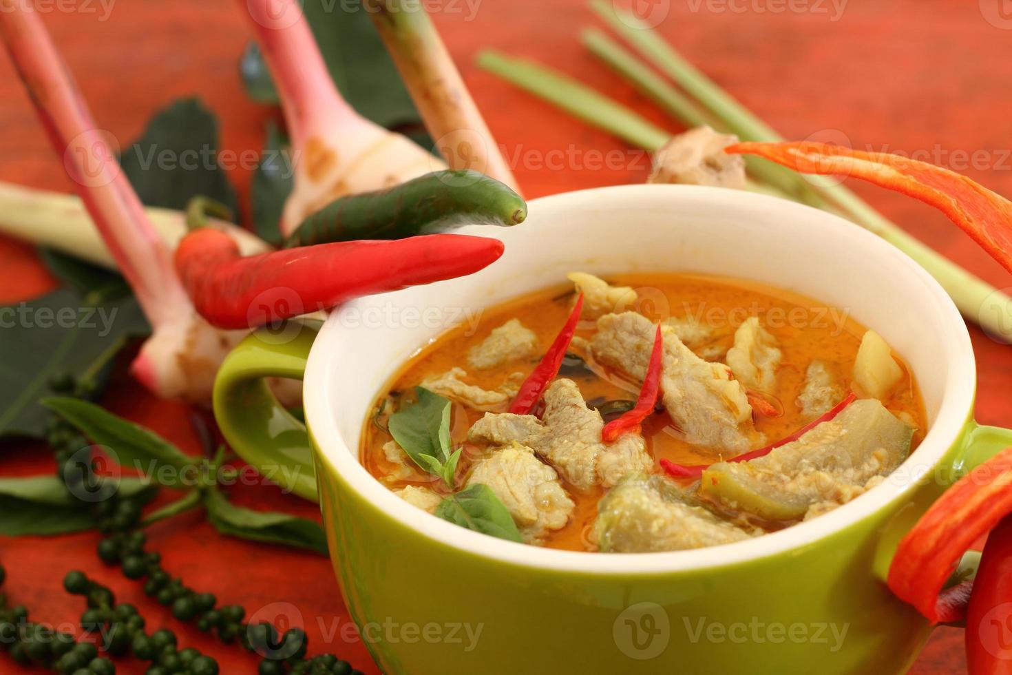 curry di maiale verde. foto