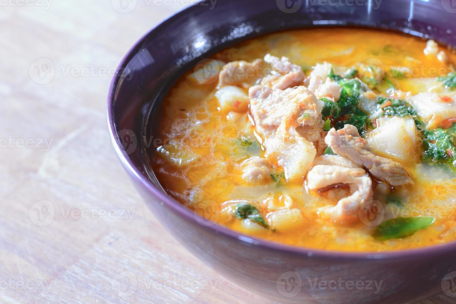 maiale al curry nel latte di cocco foto