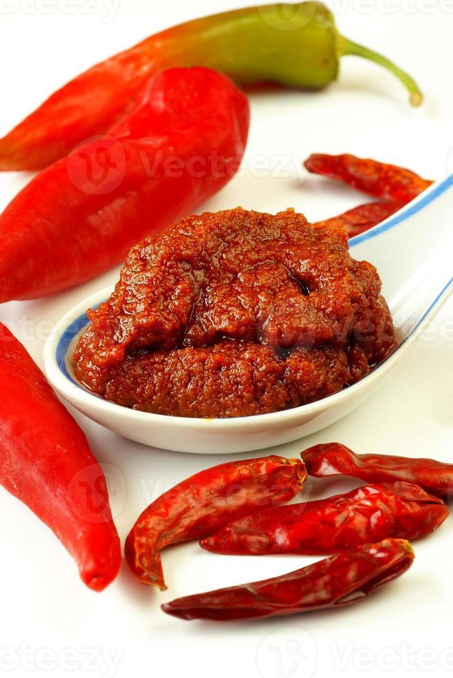 pasta di curry rosso foto