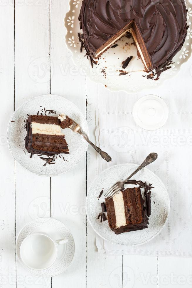cheesecake al cioccolato foto
