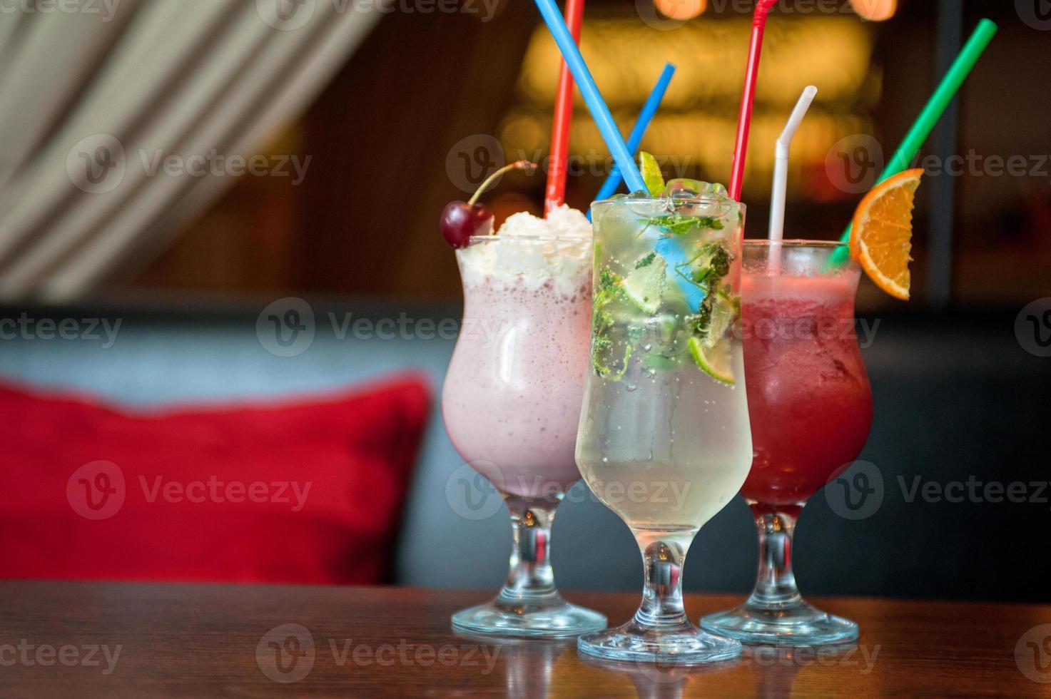 tre sani cocktail analcolici foto