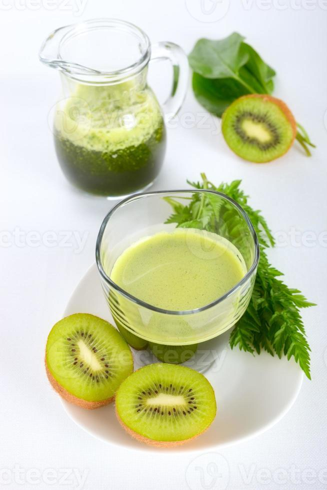 frullato verde foto