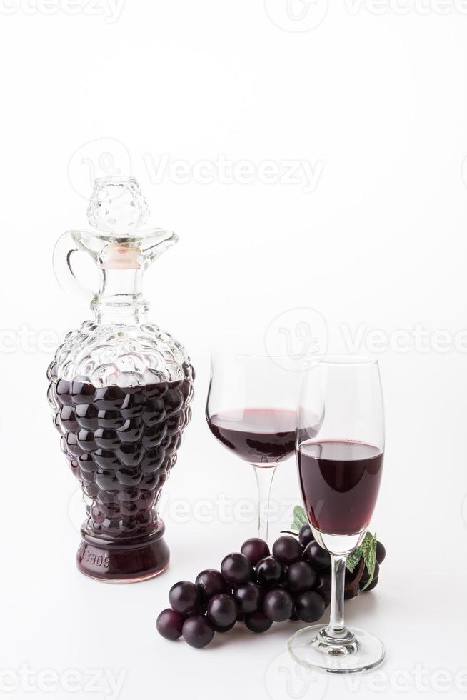 vino rosso e uva foto