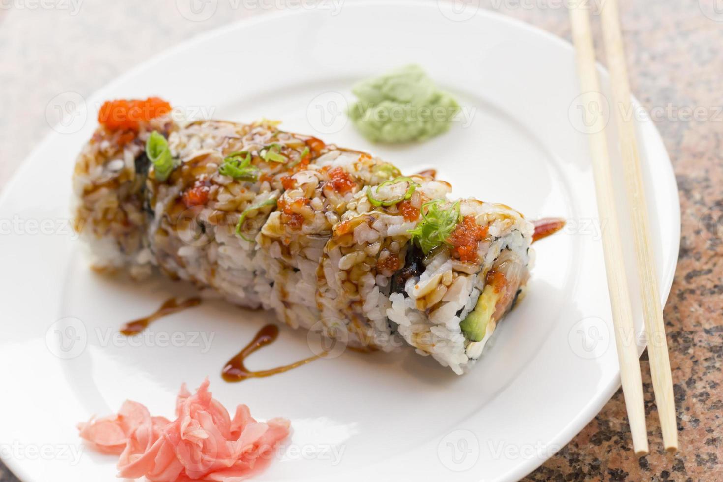 rotolo di sushi philadelphia foto